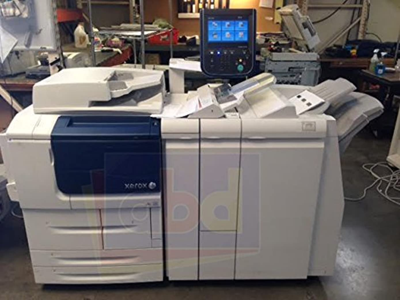 Xerox D110 Monochrome Digital Laser Production Printer/Copier - 110ppm, Copy, Print, Scan, MLA Stapling Finisher with 2/3-Hole Punch (Renewed)