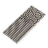 llsdls Actualización 10 unids 2mm Twist bit bit HSS-CO Cobalto de Acero Inoxidable Metal para la Herramienta giratoria Bosch Cobalt Steel Shank Strak Twist bits