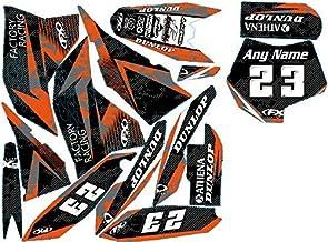 Nueva edición 2020.Compatible con KTM 143 SX 65, Years 2009-2012. Kit de calcomanías gráficas de Vinilo MX Personalizadas.
