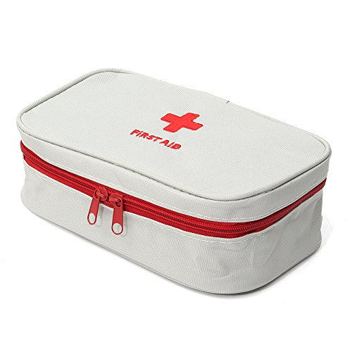 Irfora STORAGE BAG - Portable First Aid Empty Kit Pouch Tote Small First Responder Storage Bags Compact Emergency Survival Medicine Bag for Home Office Travel Camping Sport Hiking Cycling Outdoor Gr