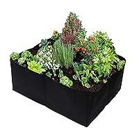 野菜栽培バッグ ハンドルと花の植栽袋耐久性と通気性の袋 農業 林業 園芸用 家庭用 (色 : Black, Size : 60x60x30cm)