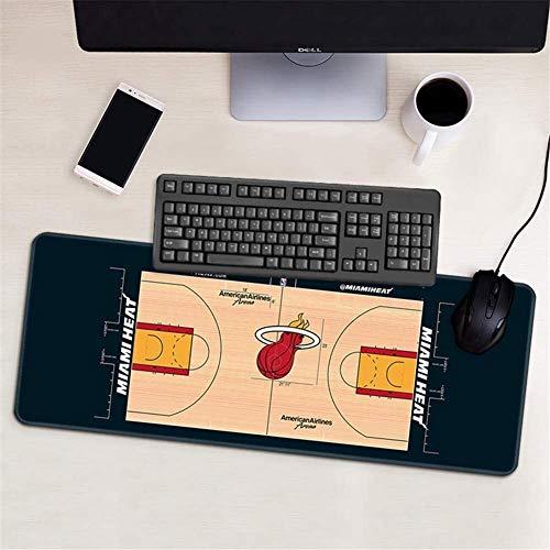 ZDVHM Extendida del Juego Alfombrilla de ratón Miami Heat Grande Teclado Ratón Mat Impermeable Antideslizante Juego Mousepad for Ministerio del Interior PC de Escritorio Tabla Alfombrilla de ratón