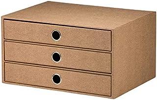 Rössler S.O.H.O. 1524452603 Boîte de rangement à 3 tiroirs pour format A4, avec trou de préhension, ligne spéciale Hazelnu...
