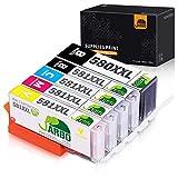 JARBO PGI-580XXL CLI-581XXL PGI-580 CLI-581 Druckerpatronen für Canon Pixma TR8550 TS6150 TR7550 TS6250 TS6251 TS6151 TS9550 TS9551 1PGBK, 1C, 1M, 1Y, 1BK