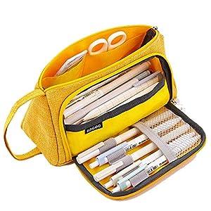 AidShunn Multifuncional Estuche de lápices de Gran Capacidad Bolsa de Lona Premium Bolsa de lápiz Organizador de papelería para niña