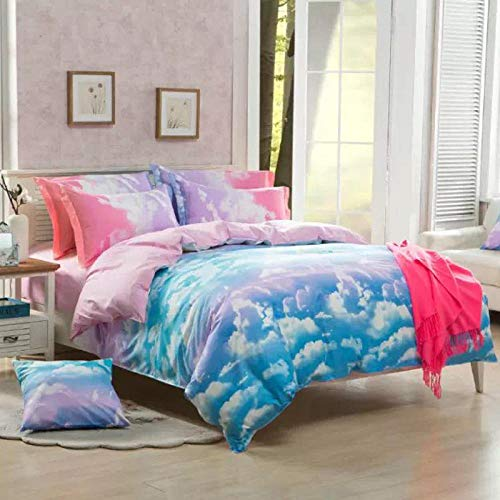 lhmlyl Matratze Home Textil 3D Bettwäsche Bettbezug Set-Caiyunzhinan_135 x 200 (50 x...