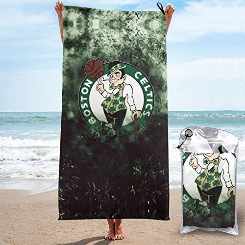 Mabell Bos_Ton American Basketball Quick Dry Towel Stylish Oversize Bath Towels Cel_Tics Large Beach Towel Sandless Beach Mat for Pool,Beach,Travel