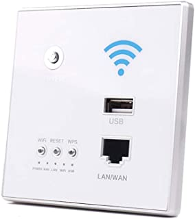 Docooler 300Mbps Power AP Relay Intelligent Wireless WIFI Repeater Extender Wall Embedded 2.4GHz Router Panel with USB Socket