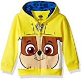 Nickelodeon Toddler Boys' Paw Patrol Character Big Face Zip-Up Hoodies, Rubble Yellow, 4T