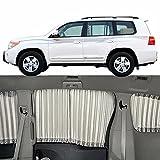 QCYP Auto Frontscheiben Sonnenschutz Passend FüR Land Cruiser 7-Windows Seite Auto Fenster SchattenvorhäNge