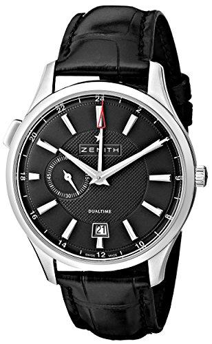 Zenith 03.2130.682/22.C493 - Reloj de Pulsera Hombre, Color Negro