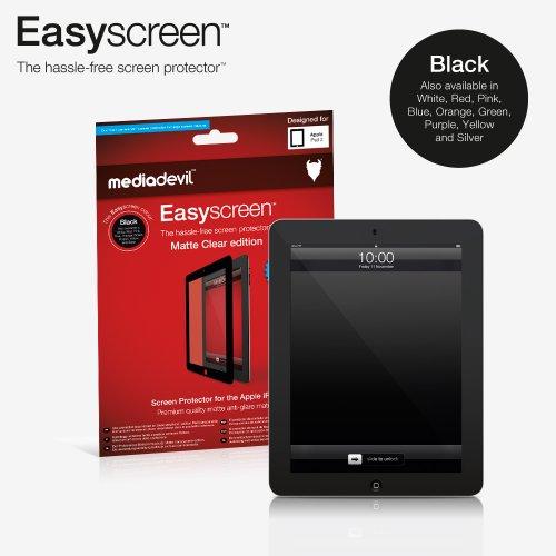 Pellicola Protettiva anti-bolle MediaDevil Easyscreen: Matte Clear (Opaco, Anti-riflesso) - Per Apple iPad 2/3/4 (1 x pellicola protettiva) - bordo Nera