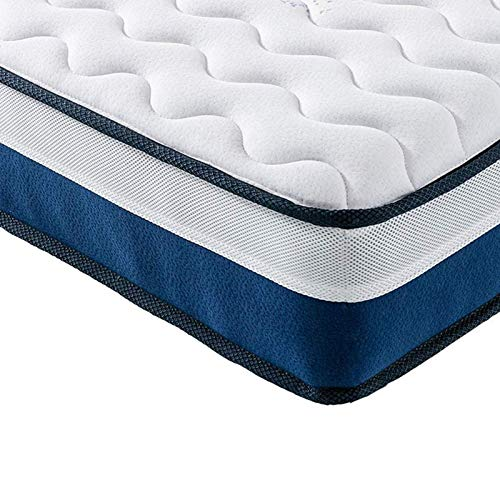 Vesgantti Lavender 6FT Super King Mattress, 10 Inch Pocket Sprung Memory Foam Mattress Super King Size Bed - CertiPUR-US Certified/100 Night Trial