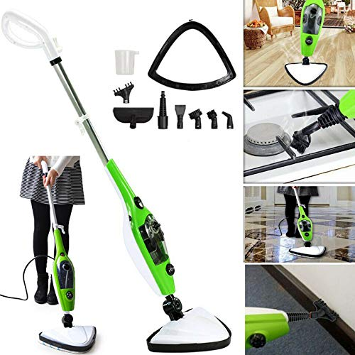 Steam Mop Handheld & Upright with 11 Accessories 180° Rotatable Mop Head 3.5 m Power Cable Steam Cleaner Mop for Cleaning Carpets and Floors, Laminate Upholstery, Tiles, Windows, Couch, Stove