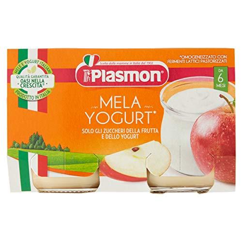 Pladmon Omogeneizzato Yogurt e Mela 2x120g