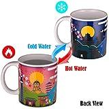 Hinomaru Collection Japanese Attraction Scenery Collectible 10 fl oz Heat Sensitive Mug Cup Color Changing Add Coffee or Tea to Change Scenery Novelty Mug (Ninja)
