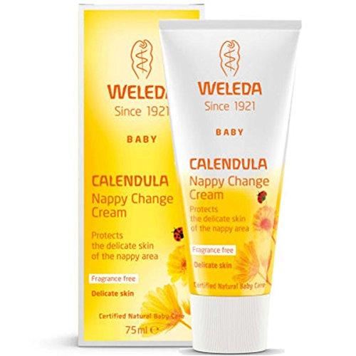 Crème pour le Change au Calendula, Protège, régénère et apaise - Weleda (50 ml) - Vous envoyez avec: un échantillon gratuit et une mini carte que vous pouvez utiliser comme marque de livre!