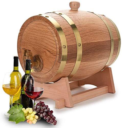 MRWW Haushalt Oak Lagerung Barrel, Jahrgang Weinfass aus Holz-Zufuhr, Bierbrauen-Ausrüstung, für Bier Whisky Rum,3l