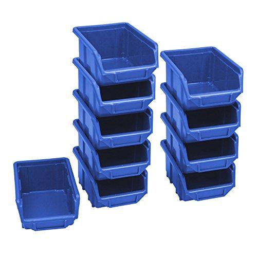 10 Stück Blau Stapelbox Werkstattkiste...