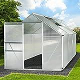 Das extra stabile BRAST Alu-Gewächshaus 190x190x195cm inkl. verzinktem Stahlfundamen bietet mit seinen 5,85m³ reichlich Platz für die Aussaat, An- und Aufzucht von Obst, Gemüse und Pflanzen. Diese werden optimal vor Wind, Regen, Hagel, Schnee, Sonnen...
