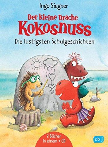 Der kleine Drache Kokosnuss - Die lustigsten Schulgeschichten - Set: 2 Kokosnussbände mit CD: Schulfest auf dem Feuerfelsen / Schulausflug ins ... kommt in die Schule (Sammelbände, Band 7)