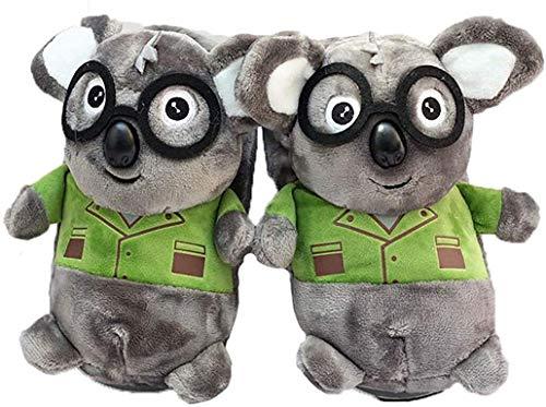 QAQA Winter-warme Kaninchen Hausschuhe, 3D-Karikatur-Plüsch-Hase Slippers Cotton Boot, Startseite Non-Slip Schlafzimmer Schuh for Frauen (Color : Koala, Size : S)