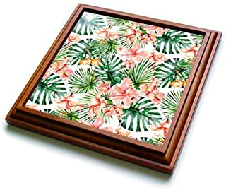 3dRose AlohaHibiscus Flower Jungle Tropical Hawaii Typography Gold Black Towel 15 x 22