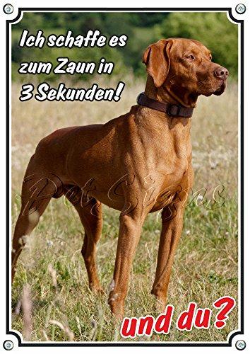 Petsigns Hundeschild Magyar Vizsla - hochwertiges Alu Schild - wetterfest - uv-beständig, DIN A5