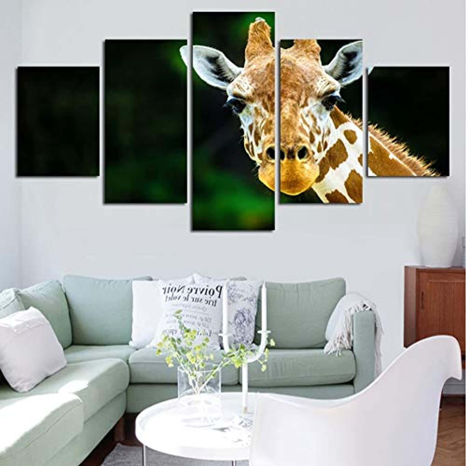 2b2da2635b16 Wall Art Painting On Canvas Wall Decor Posters 5 Piece Pcs African ...