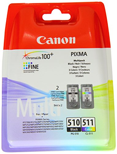 Canon PG-510 + CL-511 Inkjet/getto d'inchiostro Cartuccia originale