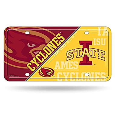 Rico NCAA Iowa State Cyclones Metal License Plate Tag
