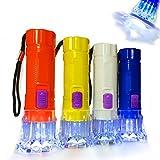 German Trendseller® - 12 x Kinder LED Taschenlampen ┃ 10 cm ┃ Sehr Gute Leucht-Kraft ┃ 12 x Minitaschenlampe ┃