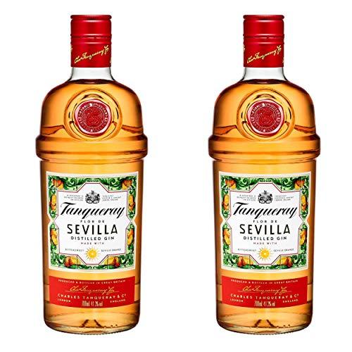 Tanqueray Flor de Sevilla, 2er, Destillierter Gin, Alkohol, Alkoholgetränk, Flasche, 41.3{e61a9ca33cf0b0eb67c50ab4c1cde5073431396dac056402b658f041b2c84e2d}, 700 ml, 753383