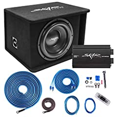 """All-in-One Complete SDR Series Loaded Subwoofer Complete Bass Package Peak Power: 1,200 Watts, RMS Power: 600 Watts Includes x1 Skar Audio SDR-1X12D2 Single 12"""" Loaded 1,200 Watt Vented Subwoofer Enclosure Includes x1 Skar Audio RP-800.1D Class D 800..."""