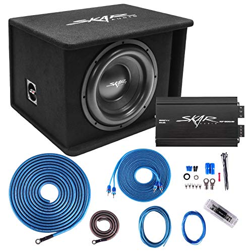 "Skar Audio Single 12"" Complete 1,200 Watt SDR Series Subwoofer Bass Package - Includes Loaded Enclosure with Amplifier"