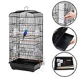 JUEYAN XL Cage à Oiseaux Perruches avec 2 Portes 46 x 36 x 92 cm ,Pour...