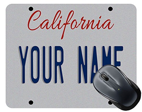 BRGiftShop Personalize Your Own California State License Plate Square Mouse Pad
