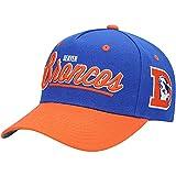 Mitchell & Ness Youth Royal/Orange Denver Broncos Retro Script Snapback Hat