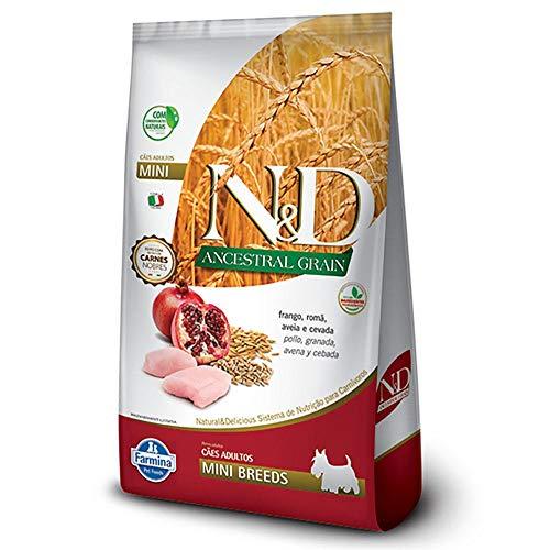 Ração Farmina N&D Ancestral Grain Sabor Frango e Romã para Cães Adultos de Raças Pequenas - 10,1kg