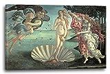 Impresión sobre lienzo (120x80cm): Sandro Boticelli - El nacimiento de Venus