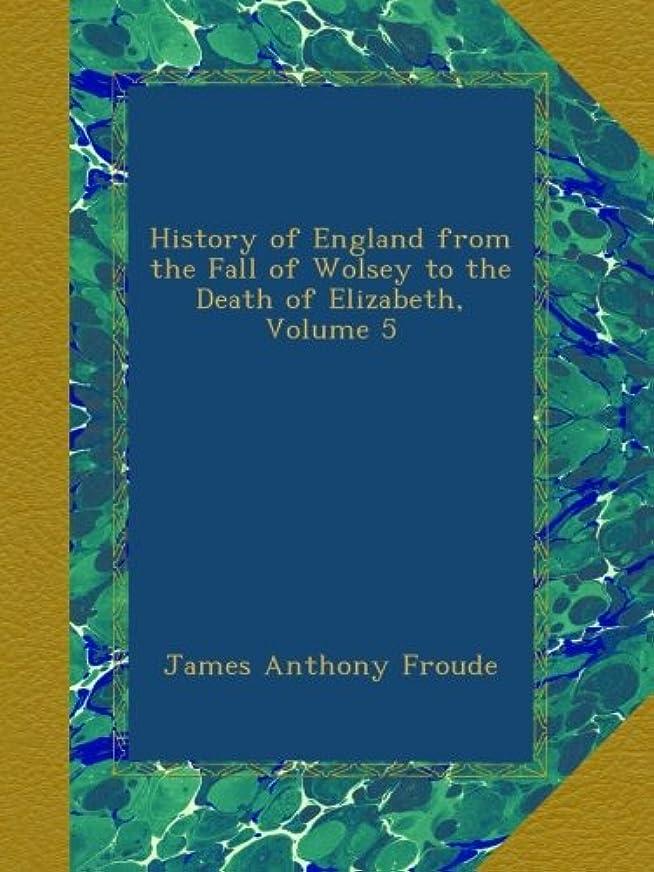 ホーム無礼に突っ込むHistory of England from the Fall of Wolsey to the Death of Elizabeth, Volume 5