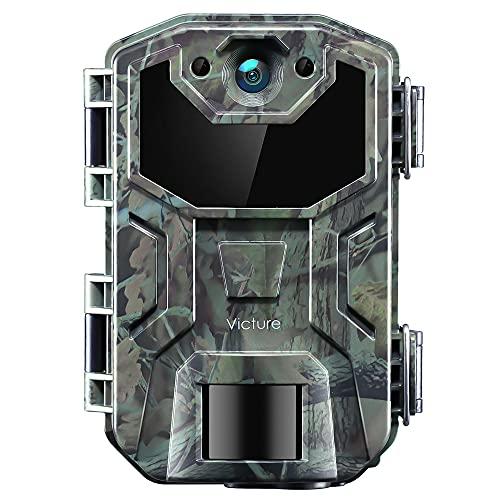 Victure Fotocamera Caccia 20MP 1080P Fototrappola Infrarossi Invisibili Visione Notturna IP66 Impermeabile 0.3s Movimento Attivato 2.4 Pollici Schermo LCD Camera per la Caccia