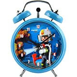 PLAYMOBIL City Action-Kinder Jungen Wecker Uhr Feuerwehr, Durchmesser: ca. 7,5 cm -