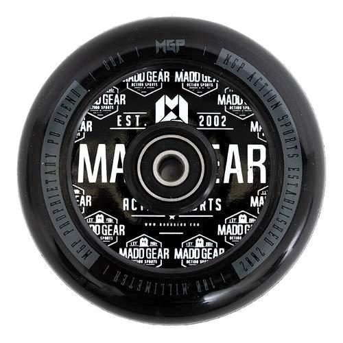 MGP Desconocido Madd Gear - Patinete de plástico, 100 mm, Color Negro