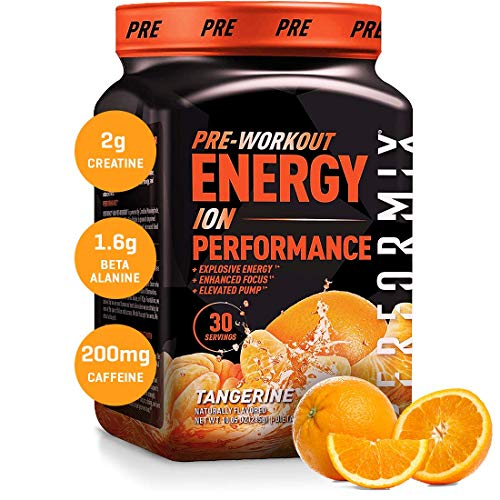 Performix ION Pre-Workout Powder, Explosive Energy, Enhanced Focus, Elevated Pump (30 Servings, Tangerine)