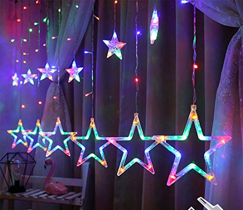 TFACR LED Stars String Fairy Lights, String Lights with Remote with 8 Shining Modes for Indoor Outdoor Home Christmas Wedding Festival Party Garden Bedroom Decorative,B