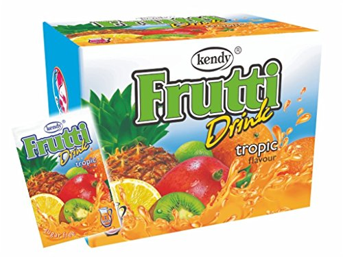 Frutti Instant Getränkepulver ohne Zucker - Geschmackrichtung: Tropic Tropische Früchte 24er Packung