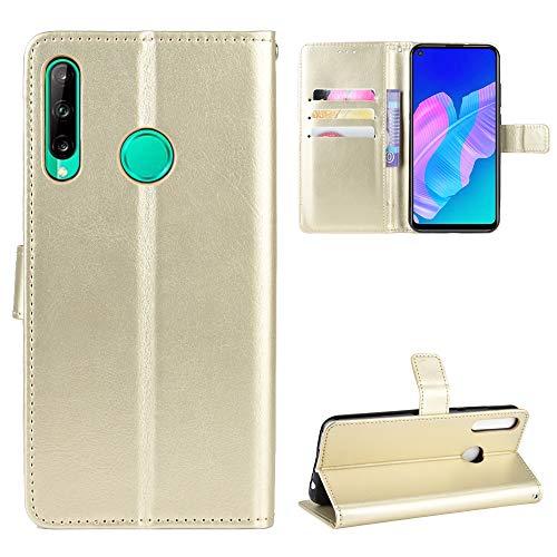 LODROC Huawei P40 Lite E / Y7p Hülle, TPU Lederhülle Magnetische Schutzhülle [Kartenfach] [Standfunktion], Stoßfeste Tasche Kompatibel für Huawei Y7p / Honor 9C - LOBYU0300633 Gold