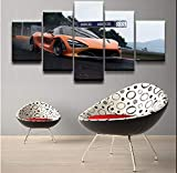 wmyzfs Imágenes modulares Living Room Wall Art Canvas Car Poster Decor 5 Piezas Pintura HD Impreso F...