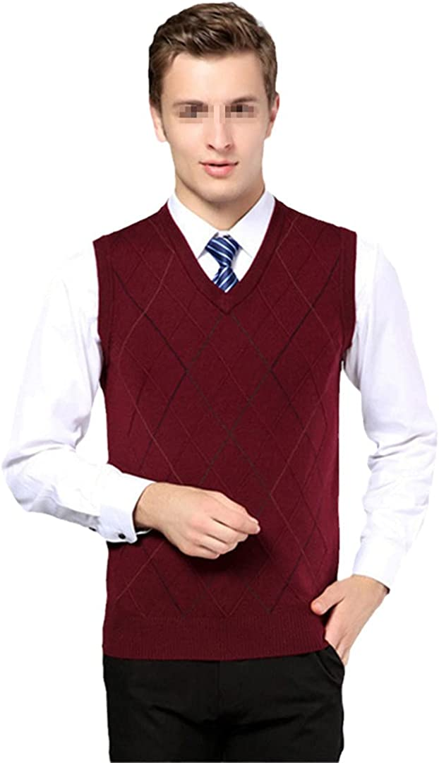 Mens Pullover Casual Cashmere Jumper Classic Plaid Stripes Sleeveless Sweaters Male Casual Woolen Vest